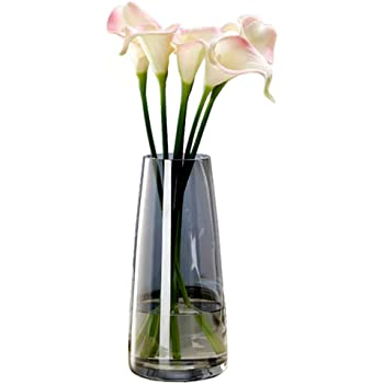 Fantastic Ryan Ins Modern Glass Vase Irised Crystal Clear Glass Vase for Home Office Decor (Crystal Gray)