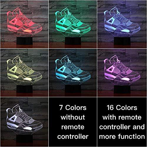 Nachtlampje Jordan 4e Generatie Retro Boots-touch Klein Nachtlampje 7 Kleuren Touch Optische Foto Tafel Decoratie Lamp, Geschikt Voor Slaapkamer Bar Sfeerlamp