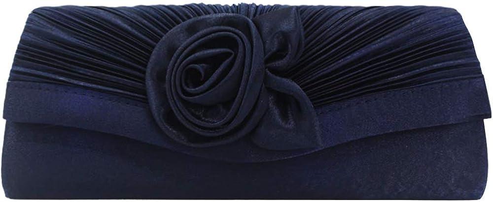 Wiwsi Stain Women Floral Bag Clutches Wedding Bridal Evening Party Handbag Purse