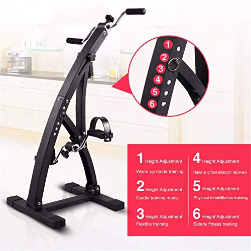 TEHWDE Indoor Fietsfiets, Fiets Trainer Cardio Fitness Workout Machine met Resistance Bands Stepper Afvallen Fitness Apparatuur Thuis Sport