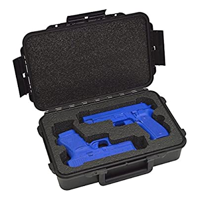 2 Pistol Medium Duty Lightweight 2 Pistol Gun Sport Case – Double Handgun TSA Approved Storage - Doro Case with Military Grade Foam Insert