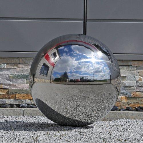 48cm große Kugel aus Edelstahl Edelstahlkugel für Garten V2A Stahl Gartenkugel Dekokugel