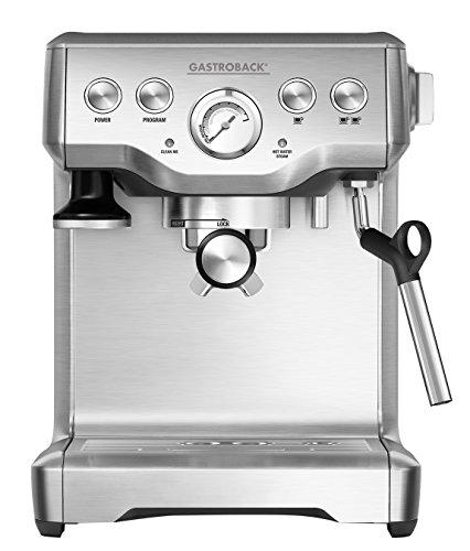Gastroback 42611 Espresso machine 1.8L 2tazas Acero inoxidable - Cafetera (Independiente, Totalmente automática, Espresso...