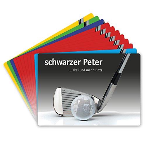 Unbekannt Golf Zocker Kartenspiel - Karten für den Golfzocker - Spaß auf dem Golfplatz