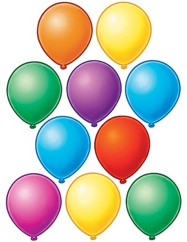 Teacher Created Resources Balloons Accents (4592),Multi Color