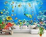 JFSJDF Wallpaper Large Mural Underwater World Children Room Cartoon Background Decoration Murals 3D Wallpaper Photo