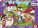 Schmidt Spiele 56402 Horse Club, Auf dem Reiterhof, 100 Teile Kinderpuzzle, mit Original Schleich Figur