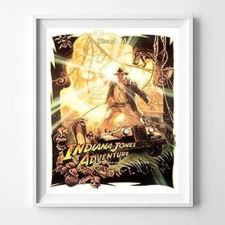 Disneyland Indiana Jones Adventure Wall Art Poster Home Decor Print Vintage Artwork Reproduction - Unframed