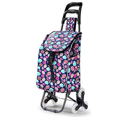 Ali Lamps@ Seniors boodschappen Trolley, Acht Rondes Kristal Wiel, Klimmen Trappen Kleine Winkelwagen Huishoudelijke Handkar, 35 Kg Lading #2