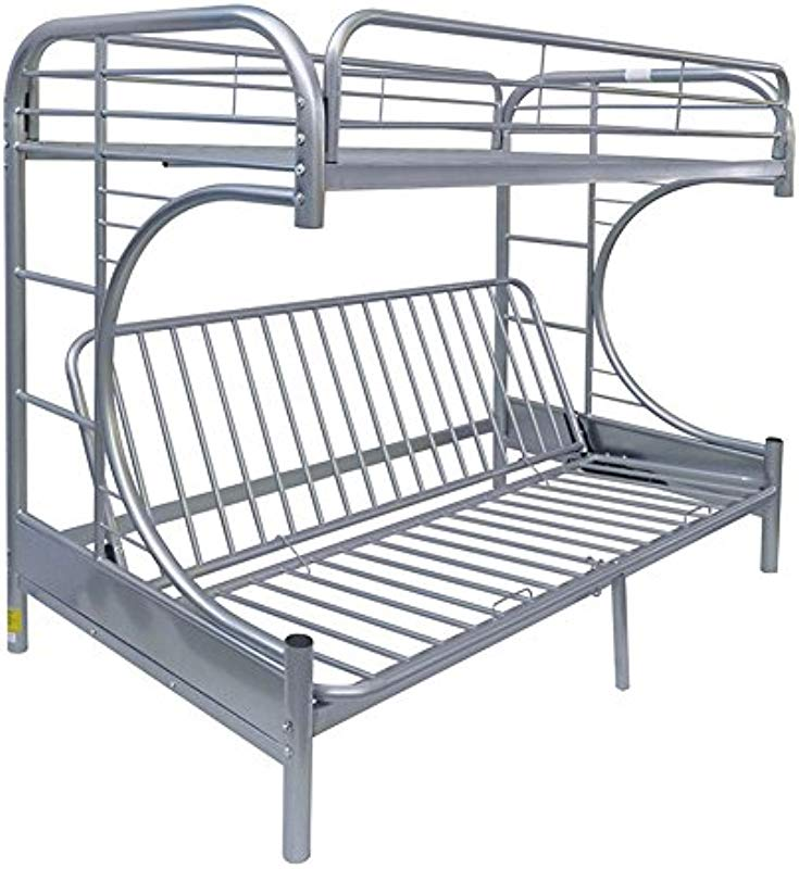 Acme Eclipse Futon Bunk Bed Twin X Large Queen Silver