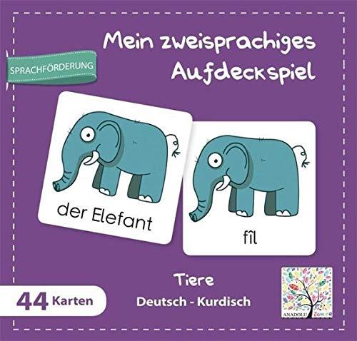 Mein zweisprachiges Aufdeckspiel, Tiere, Deutsch-Kurdisch (Kinderspiel)
