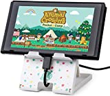 LightPro Switch Stand Animal Crossing Playstand for Nintendo Switch and Switch Lite, Foldable, Adjustable, Radiating(White)