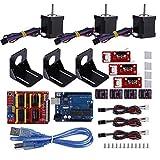 Contrôle CNC CNC Kit Delaman Kit imprimante professionnelle économique 3D Entraînement CNC Motor Module Kit Stepper Compatible avec Kuman ONU R3 for Arduino