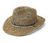 WEROR Sombrero de paja para hombre y mujer, sombrero de verano, sombrero cosecha, sombrero para el...