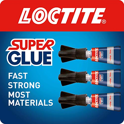 Loctite Universal, Strong All Purpose Adhesive for High-Quality Repairs, Clear Glue for Various Materials, Easy to Use Instant Super Glue, Convenient Travel Size 3 x 1g