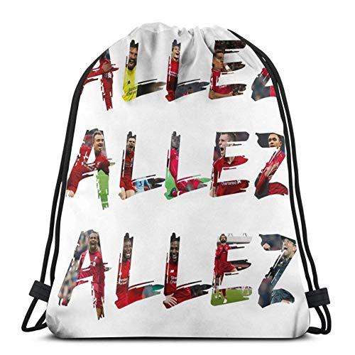 yantaiyu Drawstring Bags Allez Allez Allez Photo Text Sport Travel Mochila Navideña...