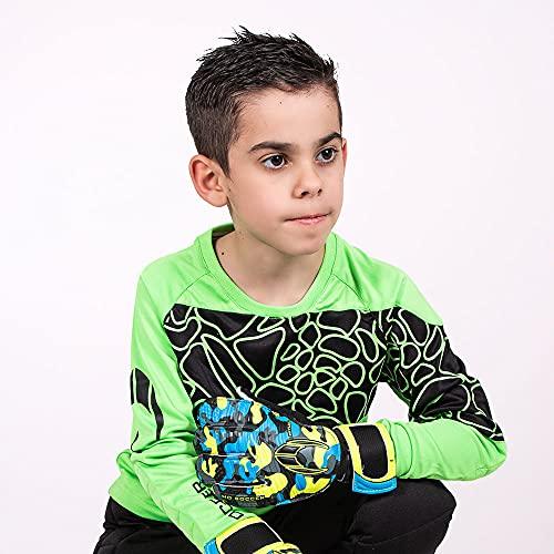 HO Soccer Jersey Furious Camiseta De Portero, Unisex niños, Verde/Negro, 12