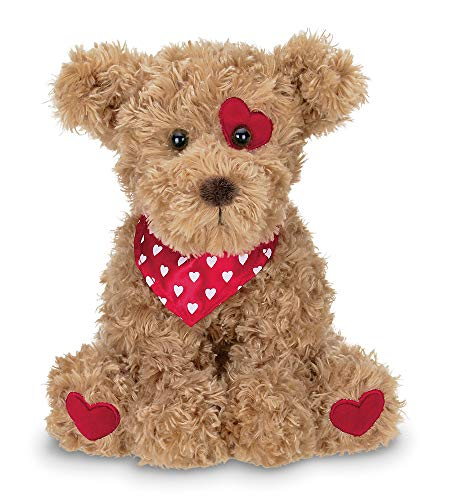 Bearington Harry Hugglesmore Stuffed Animal Puppy Dog with Hearts 11 inches
