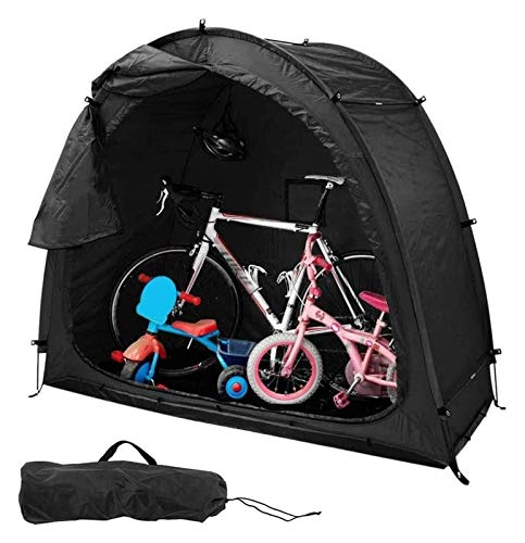 Bluetooth earphone Bike Canopy Tent Bicycle Storage Shed with Window Design Multifunctional Outdoor Waterproof Dustproof for Outdoor Travel Camping Garden Yard (Color : A)