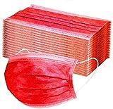 ARES 50PCS, tela no tejida de tres capas, salud/limpieza/exterior(rojo)