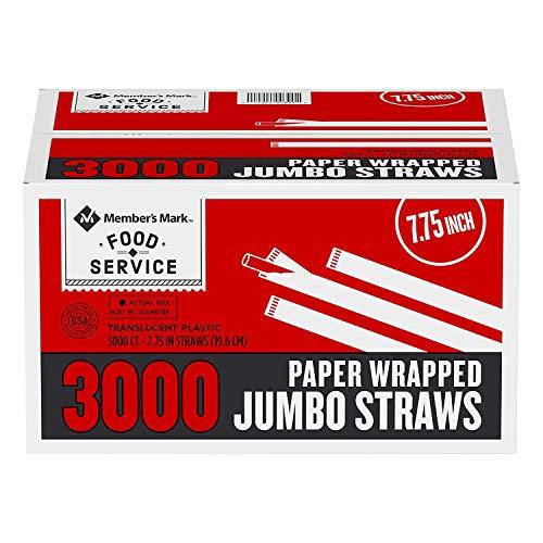 Member's Mark Jumbo Wrapped Straws (3,000 ct.) SC