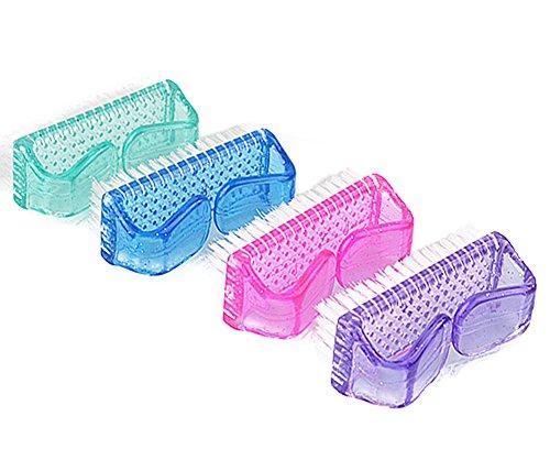 Demarkt–Cepillo para uñas uñas Polvo Cepillo Mano Lavado Cepillo Suciedad Cepillo Dedos Mano uñas Limpiador Tools plástico