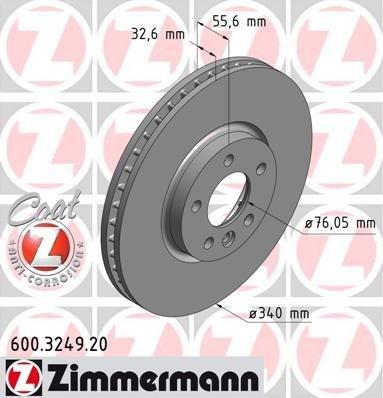 Disque de frein Coat Z–600.3249.20de charpentier