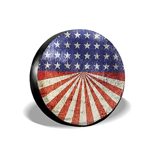 Cubierta de neumático de repuesto de la bandera americana, impermeable, a prueba de polvo, UV, cubierta de rueda para Jeep, remolque, RV, SUV y muchos vehículos de 17 pulgadas