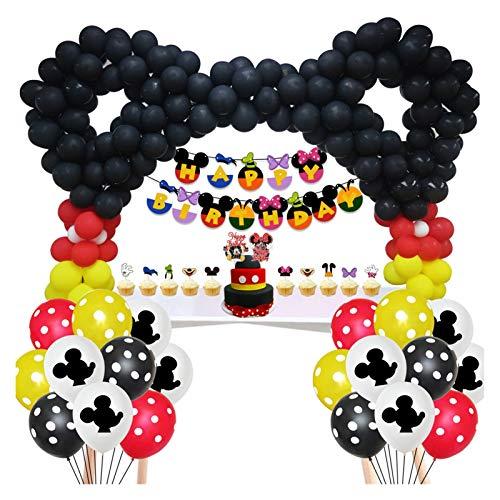 Yanqhua Globo Globo de cumpleaños de Minnie Minnie Mickey Mouse Theme Arco del Globo del Partido Cadena de Bricolaje Postre decoración de la Tabla de Mickey (Color : Combination 7)