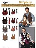 Simplicity Schnittmuster 7297 A Jungen & Herren Weste,Krawatte Gr. S/L - S/XL