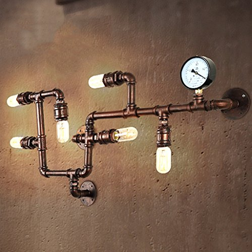 *wandlampe Retro Wasser Wände Tapeten Individualität Kreative 6 Kopf Wandleuchte Restaurant Balkon Bar Kreative E27 40 Watt Eisen Beleuchtung Schlafzimmerleuchten