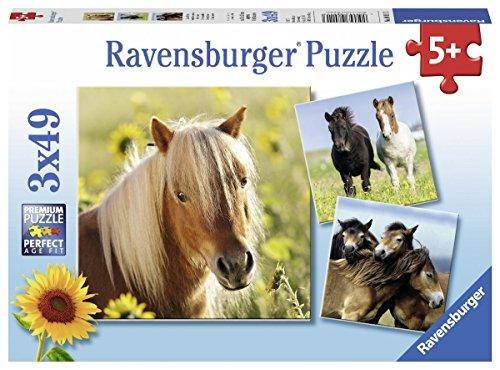 Ravensburger- Cavalli 3 Puzzle da 49 Pezzi, Multicolore, 8011