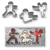3er Set Keksausstecher ''Ninja'' | Ausstechformen Kinder | Set für Kekse, Plätzchen, Tortendekorationen | Keksausstecher | Gebäckausstecher | Preis am Stiel