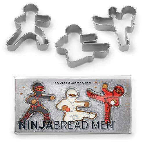 3er Set Keksausstecher ''Ninja''   Ausstechformen Kinder   Set für Kekse, Plätzchen, Tortendekorationen   Keksausstecher   Gebäckausstecher   Preis am Stiel®