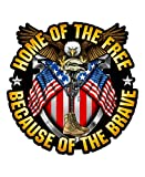 Skull Society Home of The Free, Because of The Brave - 7' Decal for Cars, Trucks, Motorcycles, Boats & Laptops