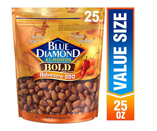 Blue Diamond Almonds Bold Habanero BBQ Almonds, 25 Ounce