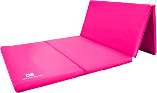 DAWSON SPORTS Unisex Adult 25004B Folding Gymnastics Mat - Pink (25004b), Smallize: 122cm (w) x 244cm (l) x 5cm (h)