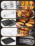 IKICH convection air fryer oven, 7 cooking modes 12QT hot air fryer oven 10 Presets LED Touch Screen...