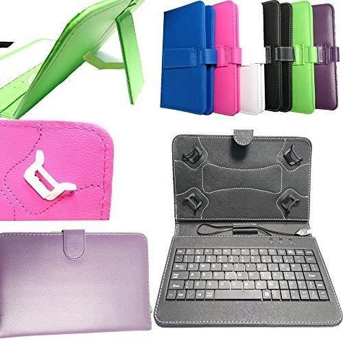 DYYSELLS 7 KEY BLACK-04 PU lederen hoesje cover standaard met ingebouwde USB-toetsenbord voor 7 inch 8 inch ALBA tablet