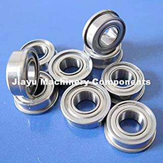 Fevas 50 PCS SF685ZZ Flanged Bearings 5x11x5 mm Stainless Steel Flange Ball Bearings DDLF-1150ZZ