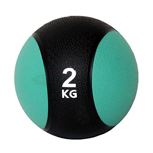 Unibest Medizinball Gummimedizinball Fitnessball Gymnastikball Gewicht 1kg-6kg - grün