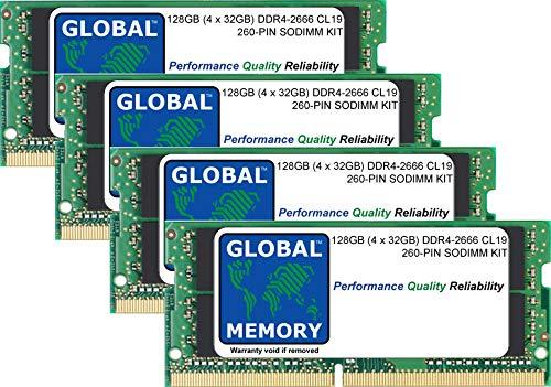 128GB (4 x 32GB) DDR4 2666MHz PC4-21300 260-PIN SODIMM Memoria RAM Kit para 27 Pulgada Retina 5K iMac (2019)