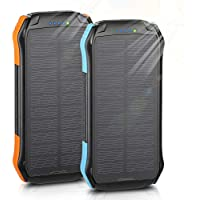 2-Pack Enegon F16S 12000mAh Outdoor Solar Panel Portable Power Bank