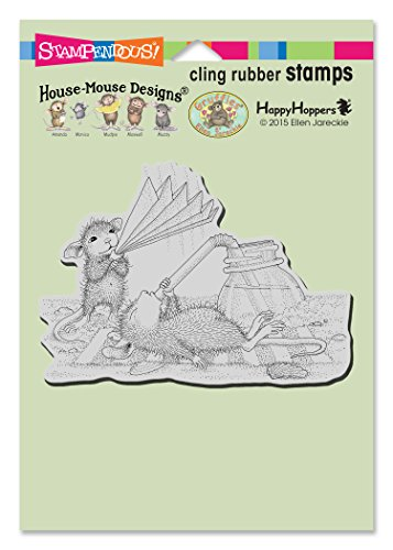 Stampendous House Mouse Cling Rubber Stamp, Keeping Cool