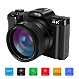 4K Digital Video Camera Camcorder Ultra HD 48MP WiFi YouTube Vlogging Camera