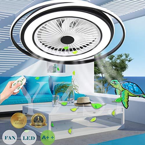 LED Deckenventilator Mit Beleuchtung Unsichtbares Fan Licht Einstellbar Modern Schlafzimmer Fan Deckenleuchte Dimmbar Wohnzimmer Leuchte Fernbedienung Leise Kinderzimmer Ventilator Lamp