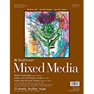 """Strathmore 462-111 400 Series Mixed Media Pad, 11""""x14"""" Glue Bound, 15 Sheets"""