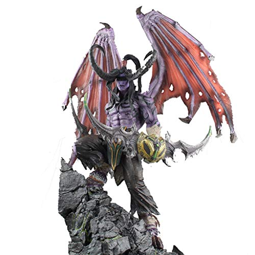 SONGDP Anime Toys Extra Large Anime Character Model World of Warcraft Illidan Demon Hunter Boxed Model Hand Art Gift Creative Home Decoration Youth Souvenir Sculpture Jewelry Gift 57cm Comic Statue image