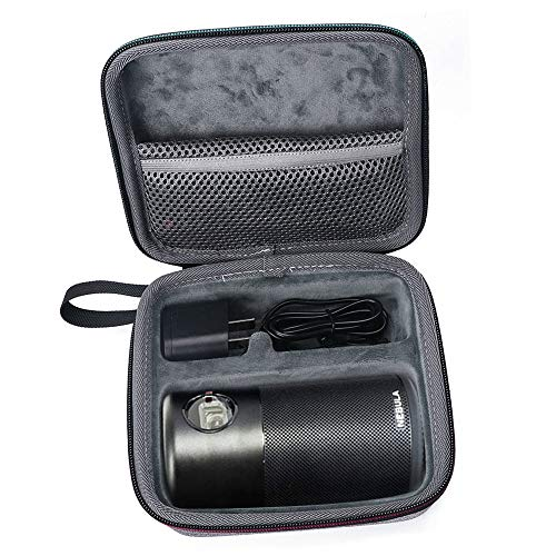Charger plug Smaller and More Convenient Can Extra Accommodate the Remote control Hard Protection Carry Bag Travel Case for Nebula Capsule Smart Mini Projector Case USB Cable etc.