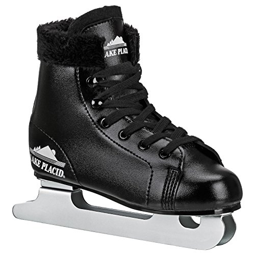 Lake Placid Starglide Boy's Double Runner Figure Ice Skate, Black, 1